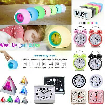 AU18.09 • Buy Alarm Clock Digital LED Thermometer Night Light Changing Clock For Child Glowing