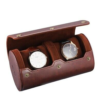 $ CDN21.40 • Buy Travel Watch Case PU Leather Watch Box 2 Slots Watch Storage Organizer Bracket