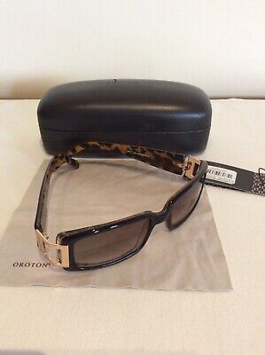 AU36 • Buy Oroton Sunglasses Milano Tortoise Shell Inside With Gold Signature Side Features