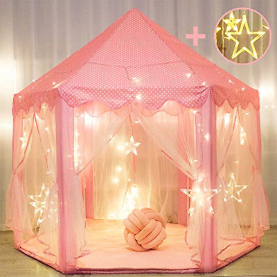 Princess Tent For Girls With Large Star Lights, Kids Play Tents Toys For Fairy • 38.24£