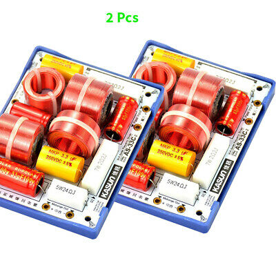 $ CDN106.88 • Buy 3Way Crossover Audio Board Professional Speakers Frequency Dividers Filters 2Pcs