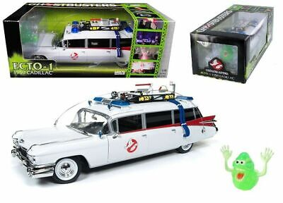 1:18 Autoworld Ghostbusters ECTO-1 Cadillac W/ Ghost 'Slimer' • 162.91£