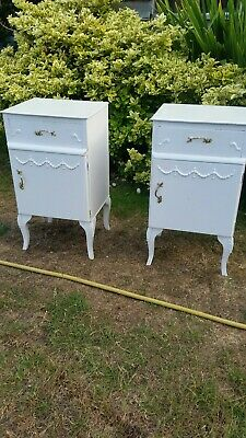 French Antique Style Bedside Cabinets Table  • 85£