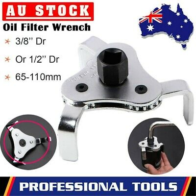 AU17.59 • Buy 2PCS 3 Jaw Engine Oil Filter Removal Wrench Tool - 1/2  & 3/8 Drive 65mm-110mm