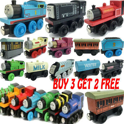 The Tank Engine Tender Wooden Magnetic Railway Train Toys Truck Cars Kids Gifts. • 2.85£