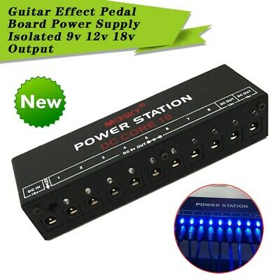 $ CDN45.72 • Buy Guitar Effect Pedal Board Power Supply Station 10 Outputs 9V 12V 18V US/EU/UK