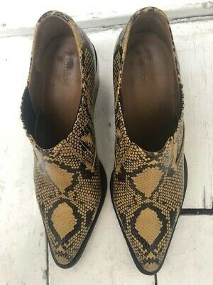 Chloe Leather Ankle Boots, Embossed Snakeskin Pattern Size Uk 8, 41 Perfect Cond • 170£