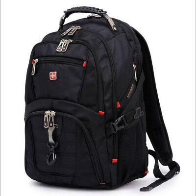 Swiss Computer Notebook School Bags Gear Waterproof Travel Bag Laptop Backpacks • 27.54£