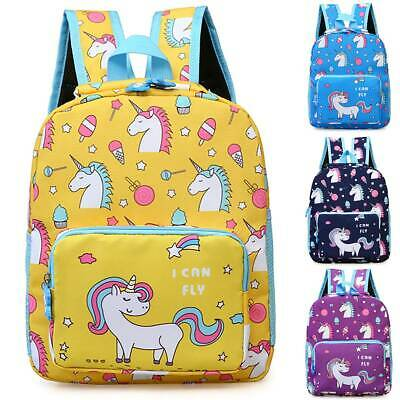 AU26.49 • Buy Personalised Kids Child Backpack Unicorn Girls School Book Bag Rucksack Gifts AU