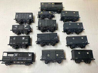 Job Lot Of OO Gauge Kit Built GWR Wagons- Airfix, Ratio Etc Wagons- Lot 5 • 59£