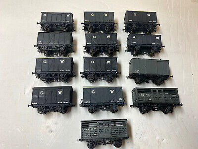 Job Lot Of OO Gauge Kit Built GWR Wagons- Airfix, Ratio Etc Wagons- Lot 6 • 59£