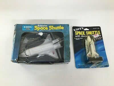 ERTL SPACE SHUTTLE DIE CAST MODELS 1/500 And 1/196 Scales X 2 • 12£