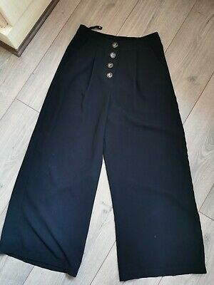 Primark Cullotte Trousers Size 4 Vintage 1950s High Waisted Pinup Rockabilly • 8£