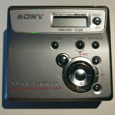 Sony Net MD MZ-N505 MiniDisc Player & Recorder Silver + Discs + EU Charger • 50£