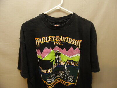 $ CDN16 • Buy Men's Vintage Harley Davidson Roaring Into The Future Motorcycle T-shirt XL