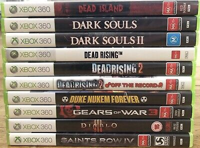 AU39.99 • Buy Xbox 360 10 Game Bundle (incl. Dark Souls, Dead Rising, Duke Nukem, Diablo)
