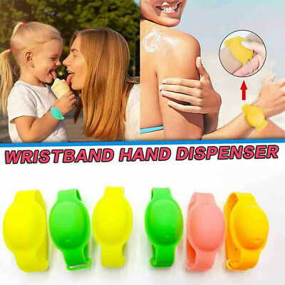 10 Pcs Hand Cleaning Gel Refillable Wristband Dispenser Wearable Squeezes Soap • 7.99£