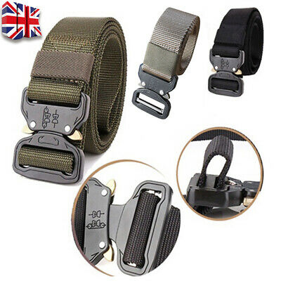 Men Quick Release Buckle Military Trouser Belt Army Cobra Tactical Nylon Web Y • 6.39£