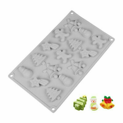 £3.99 • Buy Christmas Silicone Cake Chocolate Baking Mold Soap Candle Mould Jelly Ice Tray