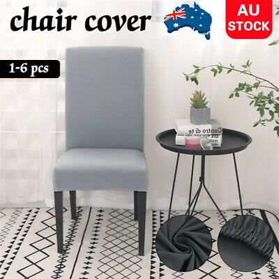 AU2.99 • Buy 1/4/6/ Stretch Dining Chair Covers Slipcover Spandex Wedding Cover Removable AU