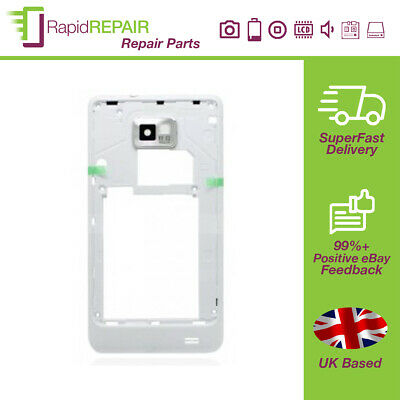 £3.99 • Buy Samsung Galaxy S2 LTE I9100P Rear Chassis With Camera Lens White With Silver Tri