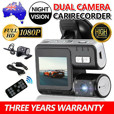 AU47.99 • Buy Dual Car Camera True HD 1080P G-sensor Recorder Crash Cam H 264 Dash DVR Video