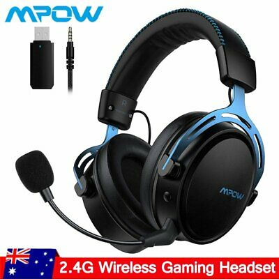 AU90.32 • Buy Mpow Air Wireless Gaming Headset Mic Headphones Surround For PC Mac PS4 Xbox