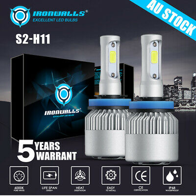 AU23.68 • Buy 2x H9 LED Headlight Bulbs Globes 8000LM 72W High Beam For Holden Commodore 06-13