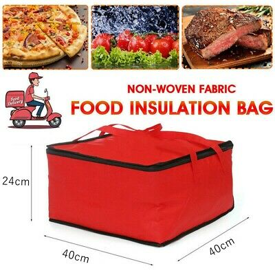 15.5'' Pizza Food Delivery Bag Insulated Thermal Storage Holder Outdoor Picnic  • 5.75£