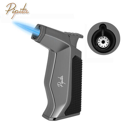 PIPITA Metal Windproof Single Torch Jet Flame Butane Refillable Cigar Lighter  • 16.50£