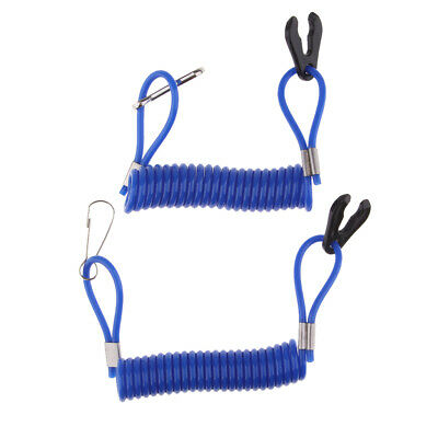 AU10.70 • Buy 2 Pieces Boat Kill Switch Safety Lanyard Blue For Yamaha Outboard