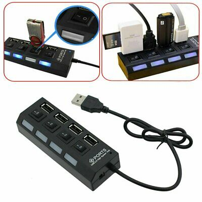 AU14.77 • Buy 4 Port USB 2.0 Multi HUB Splitter Adapter ON/OFF Switch Switches For Laptop PC