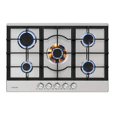 £239.99 • Buy Gas Hob 5-Burner Electric Kitchen Glass Ceramic Cooking Top Cooker Silver