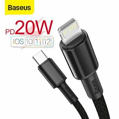 AU10.59 • Buy Baseus 20W PD Type C To Lightning Fast Charger Cable Data Cord For IPhone 12 11