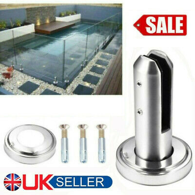 Stainless Steel Glass Spigots Panel Pool Fence Stair Bracket Balustrade Clamp UK • 11.98£
