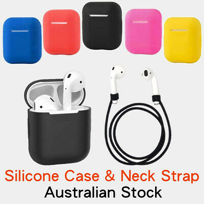 AU7.49 • Buy AirPod 1 2 Silicone Protection Cover Case Neck Strap Stop Loss Lost Damage