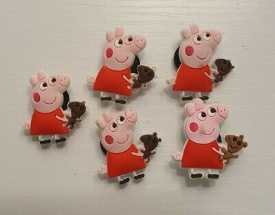 5pcs PVC Shoe Charms - Peppa Pig SMALL PRINT FAULTY Compatible Jibbitz & Crocs  • 1.75£