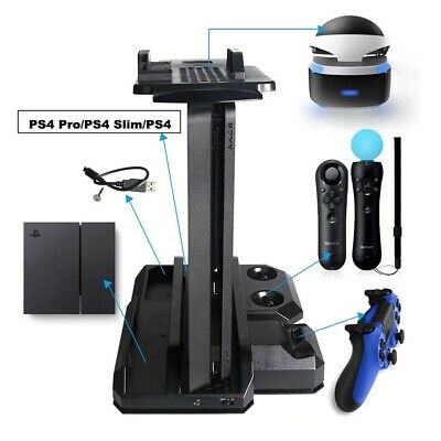 AU78.16 • Buy PS4 Pro Slim Vertical Console Cooling Stand Controller Charger Station VR Holder
