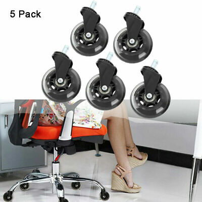 AU31.59 • Buy 5x 3'' Office Chair Caster PU Wheels Replacement Rolling Grip Ring Casters