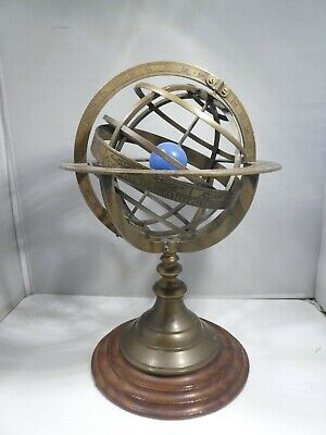 Vintage Mid Century Brass And Walnut Orrery Showing Signs Of The Zodiac • 548.59£