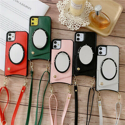 AU18.68 • Buy For IPhone 11 Pro Max XS XR 6 7 8 Crossbody Leather Case With Card Slot Mirorr