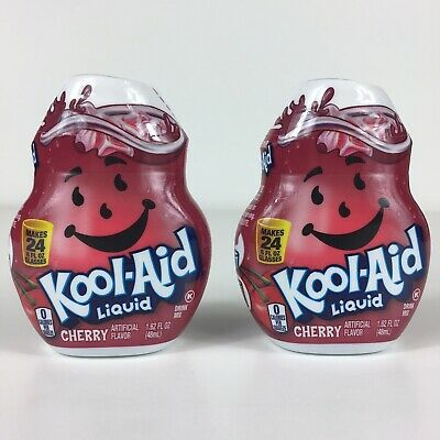 Kool-Aid Cherry Flavor Liquid Drink Mix 1.62 Fl Oz Per Bottle Lot Of 2 • 9.96£