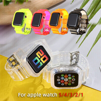 $ CDN6.89 • Buy IWatch Band For Apple Watch 6 5 4 3 2 Sport Strap+Protective Cover 38/42/40/44mm