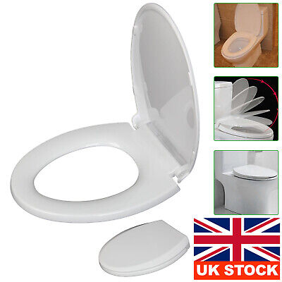 £8.59 • Buy O Shaped Design Toilet WC Seat Soft Close Top Fix Quick Release Hinge Easy Clean
