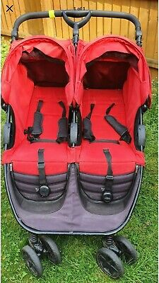 Britax B-Agile Double Buggy With Rain Cover RED • 65£