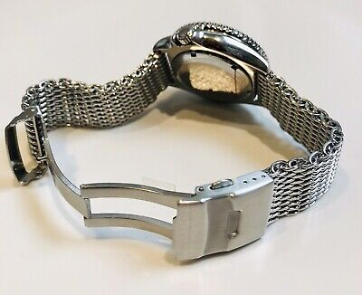 $ CDN42.60 • Buy Shark Mesh Watch Strap With Milled Clasp 18mm 20mm 22mm Stainless Steel Band