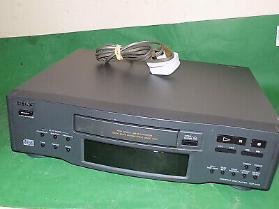 SONY Compact Disc Player CD Hifi Separate Dark Grey Vintage CDP-M33 Fully Tested • 29.99£