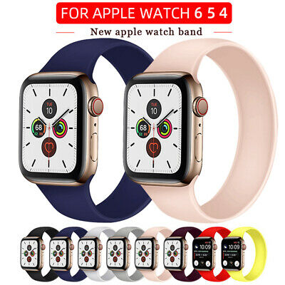 AU12.99 • Buy Solo Loop Silicone Strap For Apple Watch 6 SE 5 4 Band IWatch Band Elastic Belt
