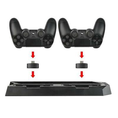 AU26.95 • Buy For PS4 Pro Cooling Fans Station Vertical Stand W/ 2 Controller Charging Dock RC