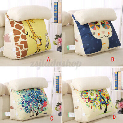 AU34.59 • Buy Bed Chair Sofa Pillow Home Office Rest Neck Back Support Wedge Cushion Removable